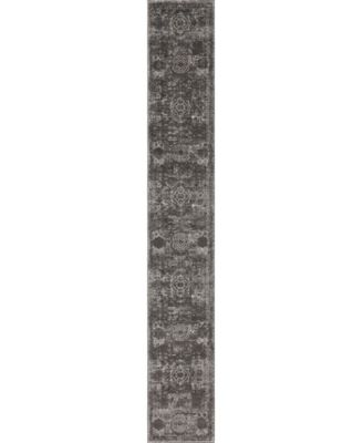 Mobley Mob2 Dark Gray 2' x 13' Runner Area Rug