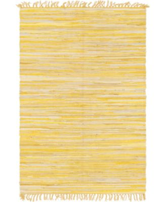 Jari Striped Jar1 Yellow 4' x 6' Area Rug