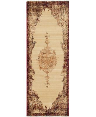 """Thule Thu2 Red 2' 2"""" x 6' Runner Area Rug"""