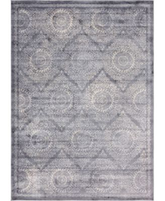 Anika Ani3 Gray 7' x 10' Area Rug