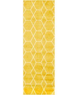 Plexity Plx1 Yellow 2' x 6' Runner Area Rug