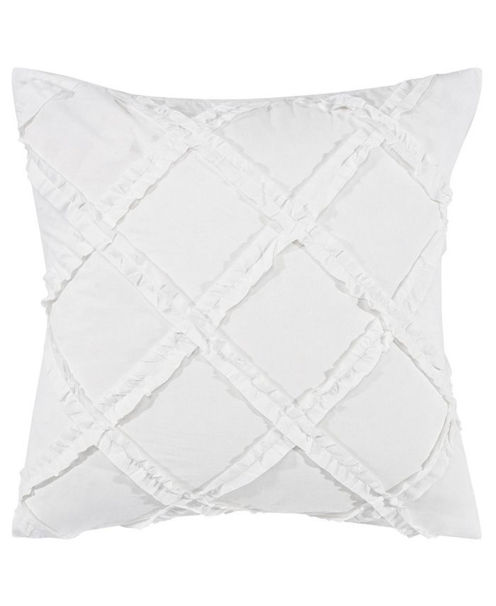 Laura Ashley - Adelina White European Sham Pair