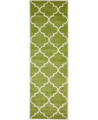 "Arbor Arb3 Green 2' 7"" x 8' Runner Area Rug"
