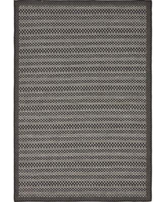 Pashio Pas6 Gray 4' x 6' Area Rug