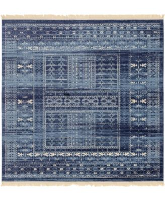 Borough Bor4 Blue 8' x 8' Square Area Rug