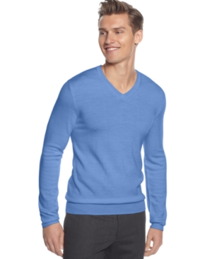 Calvin Klein Sweater, Merino V Neck Holiday Sweater