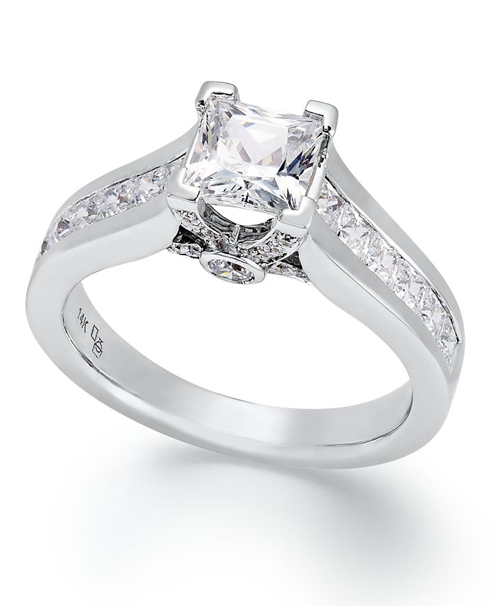 Macy's - Certified Diamond Engagement Ring in 14k Gold or White Gold (1-1/2 ct. t.w.)