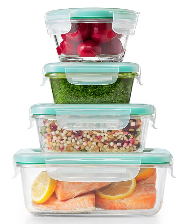 OXO Smart Seal 12-Pc. Glass Food Storage Container Set