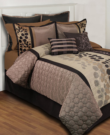Closeout Sydney 24 Piece Comforter Sets Bed In A Bag