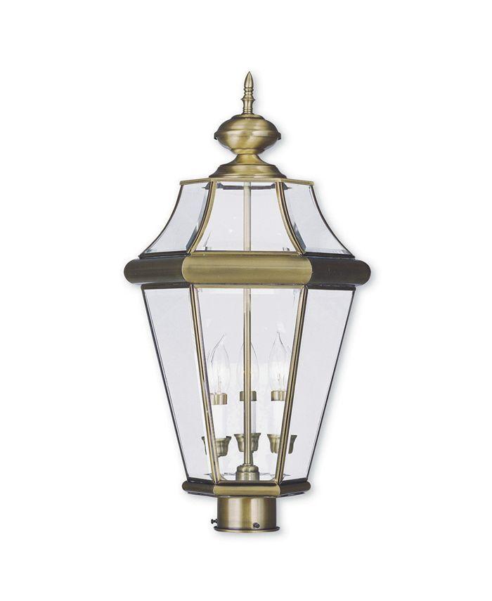 Livex - Georgetown 3-Light Outdoor Post Lantern