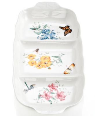 Lenox Dinnerware, Butterfly Meadow Divided Server