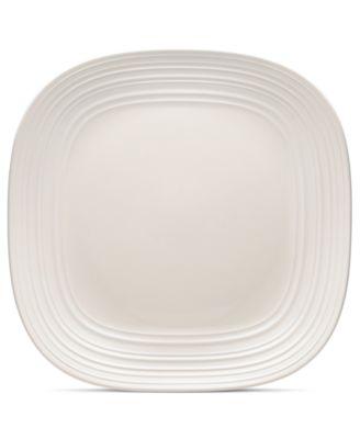 Mikasa Dinnerware, Swirl Square White Platter