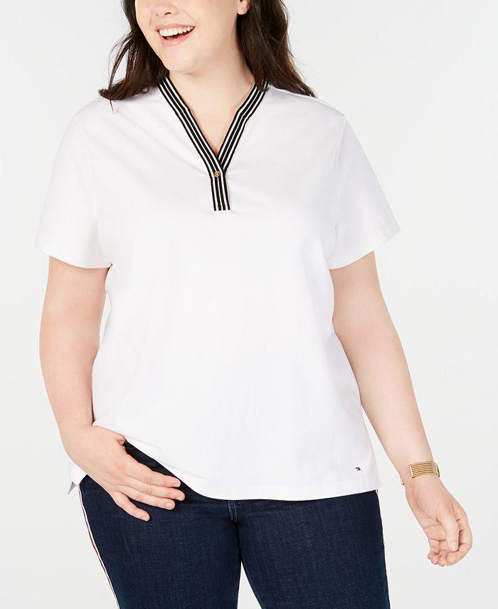 Tommy Hilfiger - Plus Size Piqué Henley T-Shirt