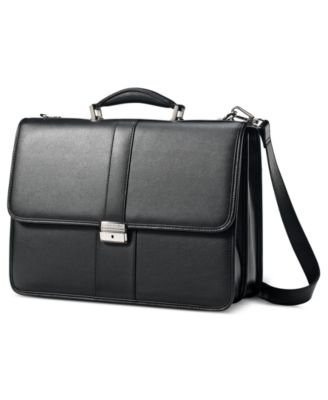 Samsonite Leather Flapover Briefcase