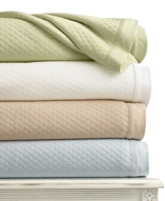 Martha Stewart Collection Quilted Triple Knit King Blanket