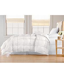 Oversized White Goose Down Comforter, Full/Queen