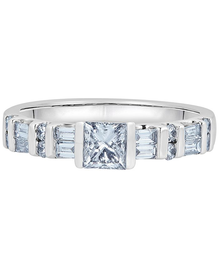 Macy's - Diamond Princess-Cut Engagement Ring (1 ct. t.w.) in 14k White Gold