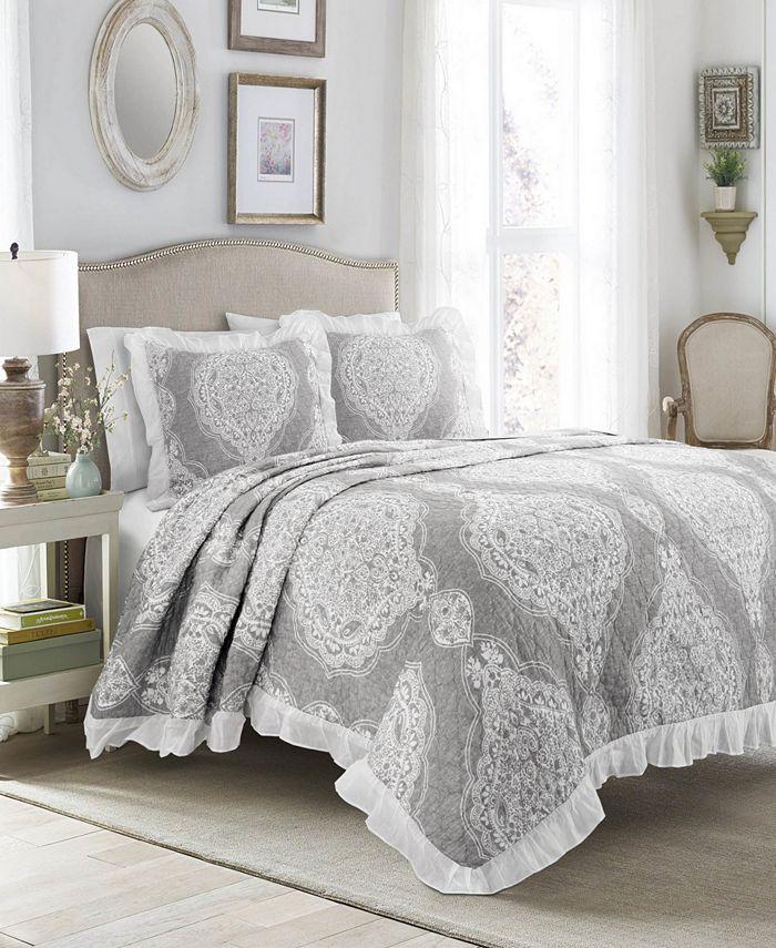 Lush Décor - Lucianna Ruffle Edge Cotton 3Pc King Bedspread Set