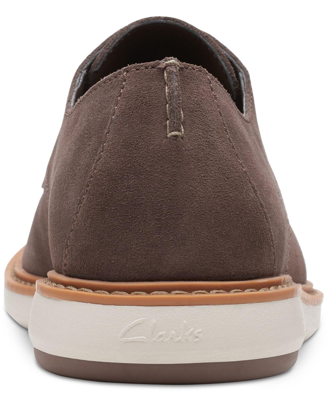 Clarks Men's Draper Taupe Suede Casual Lace-Up Shoes & Reviews - All Men's Shoes - Men - Macy's