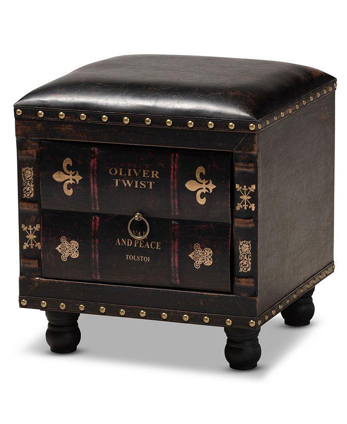 Furniture - Charlier Ottoman, Quick Ship