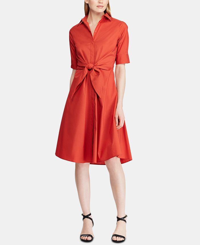 Lauren Ralph Lauren - Buttoned Fit-and-Flare Dress