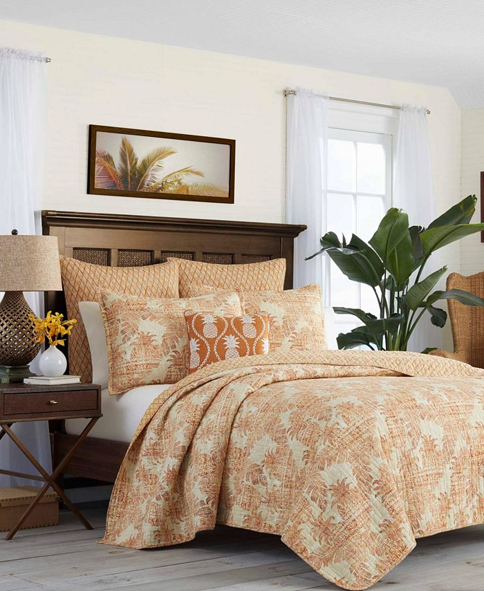 Tommy Bahama Home - Batik Pineapple Raw Sienna Quilt, Full/Queen