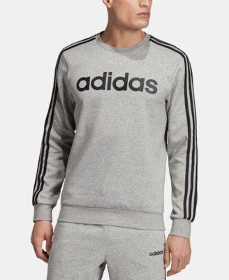 Anuncio Sabor Necesitar  adidas Men's Essentials 3-Stripes Fleece Logo Crew & Reviews - Hoodies &  Sweatshirts - Men - Macy's