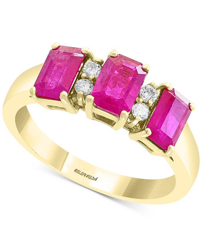 EFFY Collection - Ruby (2 ct. t.w.) & Diamond (1/10 ct. t.w.) Ring in 14k Gold