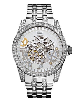guess s automatic stainless steel bracelet