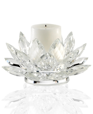 Lighting by Design Candle Holder, Lotus Pillar Holder with Candle