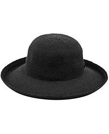 Angela & William Wide Brim Sun Bucket Hat with Roll Up Edge