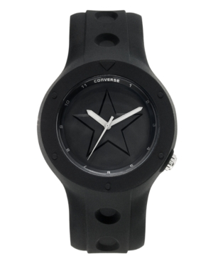 Converse Watch Unisex Rookie Black Silicone Strap 43mm VR001001