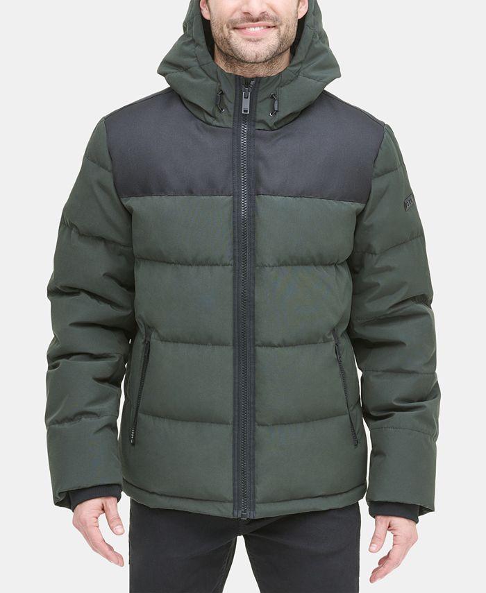 DKNY - Men's Mixed-Media Puffer Coat