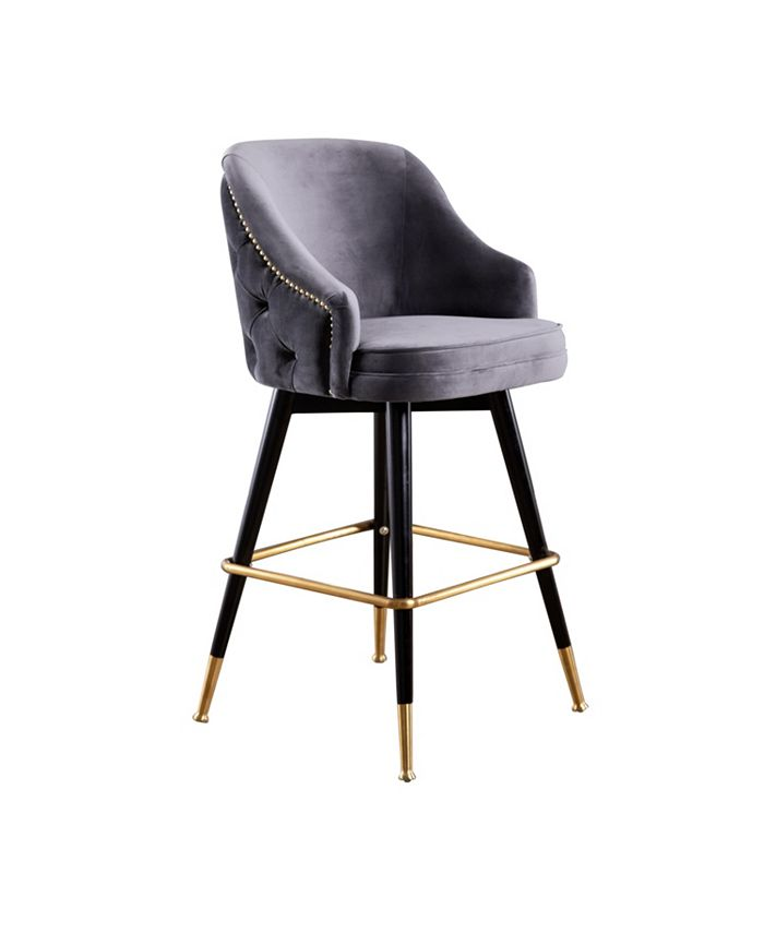 Abbyson Living - Ella Bar Stool, Quick Ship