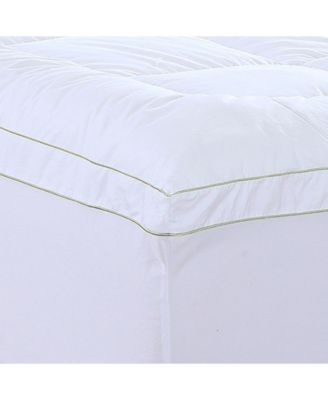 Christies Home Living Square Full Quilted Accent Piping Mattress Pad with Fitted Mattress Cover