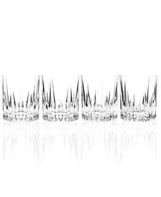Godinger Barware, Aberdeen Double Old Fashioned Glasses, Set of 4