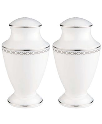 Lenox Dinnerware, Pearl Platinum Salt and Pepper Shakers