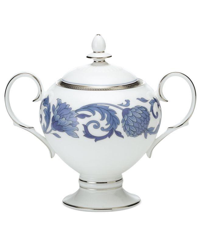 Noritake Dinnerware, Sonnet in Blue Sugar Bowl with Lid