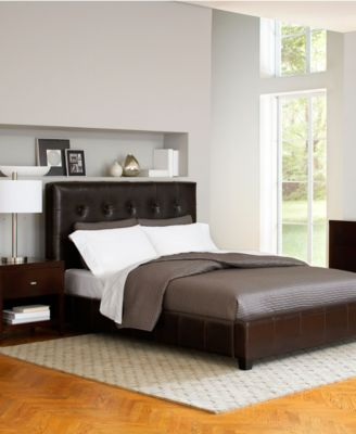 Hawthorne Bedroom Furniture Collection, Brown Leather Storage Beds ...