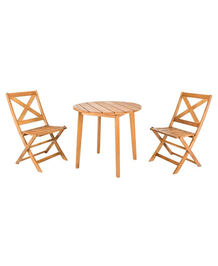 Safavieh - Bruna 3 Piece Bistro Set, Quick Ship