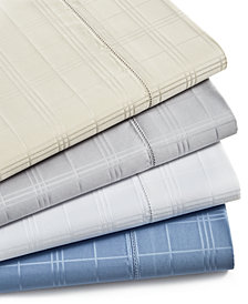 Charter Club Damask Windowpane Supima Cotton 550-Thread Count 4-Pc. Sheet Set Collection, Created for Macy's