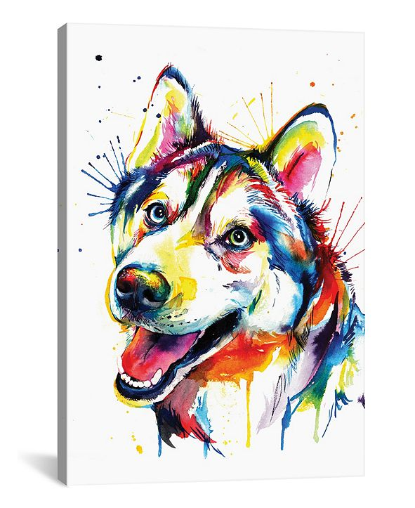 "iCanvas Husky by Weekday Best Gallery-Wrapped Canvas Print - 40"" x 26"" x 0.75"""