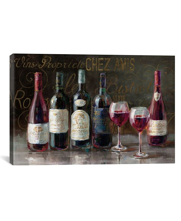 """iCanvas Bistro Reds V.2 by Danhui Nai Gallery-Wrapped Canvas Print - 18"""" x 26"""" x 0.75"""""""