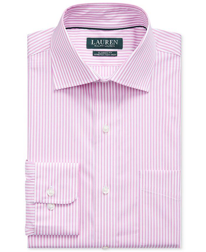 Ralph Lauren Men's Pink Stripe Dress Shirt & Reviews - Dress ...