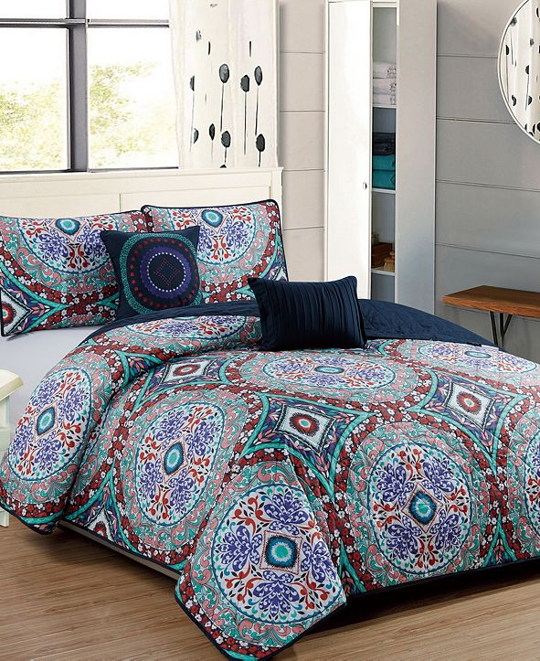 RT Designers Collection Odyssey 5-Piece Quilt Set - Queen