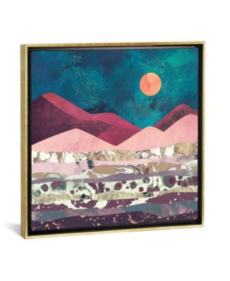 Magenta Mountain by Spacefrog Designs Gallery-Wrapped Canvas Print - 26