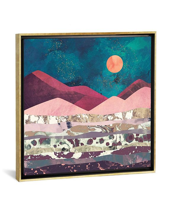 """iCanvas Magenta Mountain by Spacefrog Designs Gallery-Wrapped Canvas Print - 18"""" x 18"""" x 0.75"""""""