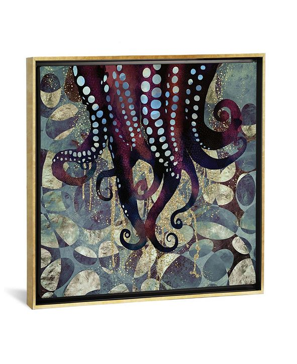 "iCanvas Metallic Ocean Ii by Spacefrog Designs Gallery-Wrapped Canvas Print - 26"" x 26"" x 0.75"""