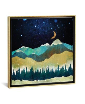 "Snow Night by Spacefrog Designs Gallery-Wrapped Canvas Print - 37"" x 37"" x 0.75"""