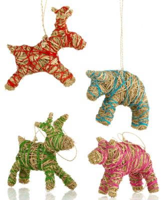 Heart of Haiti Christmas Ornaments, Vetiver Animal Collection